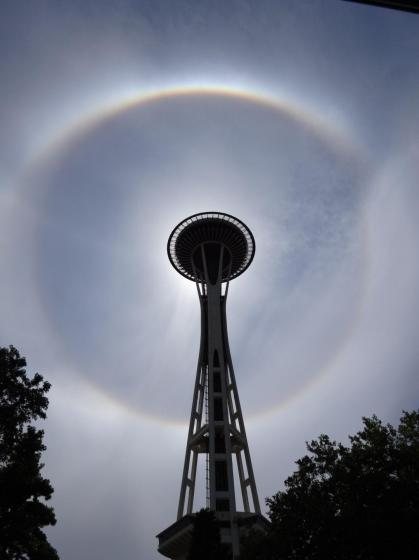 Halo over he Space Needle